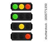traffic light icon in flat...   Shutterstock . vector #1830771350
