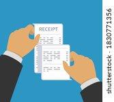 hand holding receipt....   Shutterstock . vector #1830771356