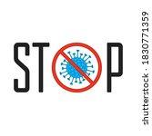 stop corona virus  covid 19...   Shutterstock . vector #1830771359