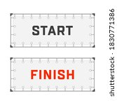 starting and finishing lines...   Shutterstock . vector #1830771386