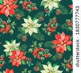 Watercolor Christmas Pattern...