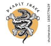 deadly snake crossbones ... | Shutterstock .eps vector #1830779639