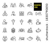 accounting thin line icons   ... | Shutterstock .eps vector #1830790850