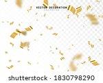 falling shiny golden confetti... | Shutterstock .eps vector #1830798290
