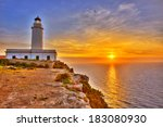 la mola cape lighthouse... | Shutterstock . vector #183080930