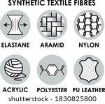 synthetic textile fibre icons....   Shutterstock .eps vector #1830825800