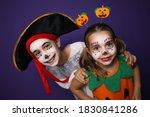 cute little kids wearing... | Shutterstock . vector #1830841286