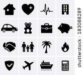insurance icons | Shutterstock .eps vector #183088289