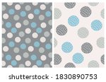 simple dotted seamless vector... | Shutterstock .eps vector #1830890753