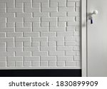 entrance in an empty room with... | Shutterstock . vector #1830899909
