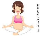 beautiful young pregnant woman... | Shutterstock .eps vector #183092279