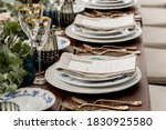 Place Setting With Menu And...