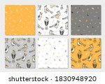 Vector Set Of Seamless Patterns ...