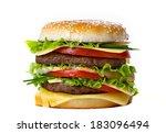 hamburger isolated.... | Shutterstock . vector #183096494
