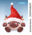ox funny animal in the chinese... | Shutterstock .eps vector #1830968609