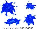 hand draw sketch  blue splash  | Shutterstock .eps vector #183104333