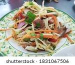 Thai Food  Papaya Salad In The...