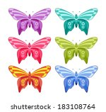 vector color set of colored... | Shutterstock .eps vector #183108764