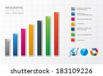 business graph and chart | Shutterstock .eps vector #183109226