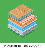 layered isometric of floor... | Shutterstock .eps vector #1831097749