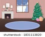 christmas decorated house flat... | Shutterstock .eps vector #1831113820