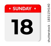 sunday 18 calendar icon vector... | Shutterstock .eps vector #1831154140