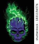 Green Fire Hollow Death Skull