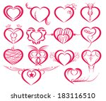 set of symbol hearts | Shutterstock .eps vector #183116510