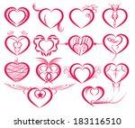 set of symbol hearts | Shutterstock .eps vector #183116510