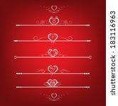 set valentines day design...   Shutterstock .eps vector #183116963
