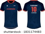 sports t shirt jersey design... | Shutterstock .eps vector #1831174483