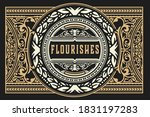 vintage design with floral frame | Shutterstock .eps vector #1831197283