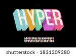 vector hyper font 3d bold... | Shutterstock .eps vector #1831209280