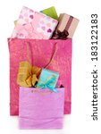 presents in paper bags isolated ... | Shutterstock . vector #183122183
