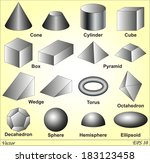 3d shapes | Shutterstock .eps vector #183123458