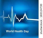beautiful world health day... | Shutterstock .eps vector #183124730