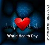 heart beats medical concept... | Shutterstock .eps vector #183124736