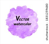 round watercolour vector... | Shutterstock .eps vector #1831259680