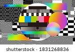glitch camera effect. retro vhs ... | Shutterstock .eps vector #1831268836
