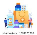 online pharmacy with mobile... | Shutterstock .eps vector #1831269733