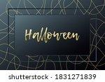 halloween card. vector... | Shutterstock .eps vector #1831271839