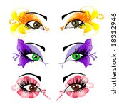 woman eyes collection  vector... | Shutterstock .eps vector #18312946