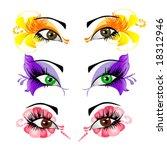 woman eyes collection  vector... | Shutterstock .eps vector #18312946