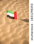 Close Up Of A Small Flag Of...