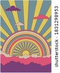 Sun  Rainbow  Clouds 1960s...