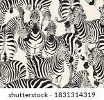zebra animal wildlife safari... | Shutterstock .eps vector #1831314319