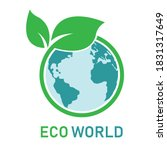 earth and leaf logo isolated on ... | Shutterstock .eps vector #1831317649