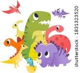 a cartoon vector illustration... | Shutterstock .eps vector #1831323520