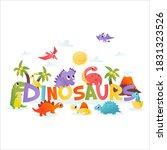 a cartoon vector illustration... | Shutterstock .eps vector #1831323526