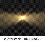 glow beacon beam effect ... | Shutterstock .eps vector #1831335826